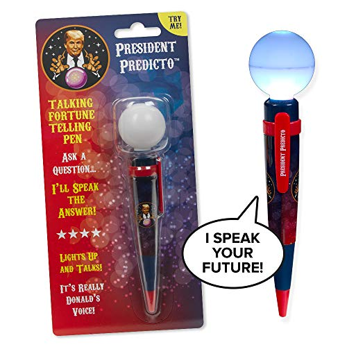President Predicto - Trump TALKING Fortune Telling PEN - Ask a YES or NO Question & Trump Speaks the Answer - Donald Trump Gifts - Fun Way to Discover Your Future - Like a Next Generation Magic 8 Ball