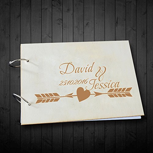 Unique Wedding Guest Book Personalized Name and Date Wedding Scrapbook Photo Albums Anniversary Gifts for Girls