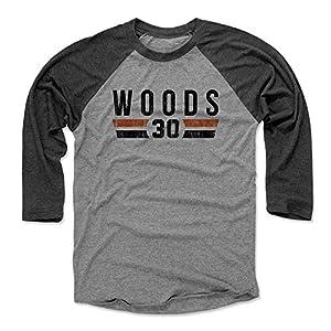 500 LEVEL's Ickey Woods Baseball Shirt - Vintage Cincinnati Football Fan Gear - Ickey Woods Font
