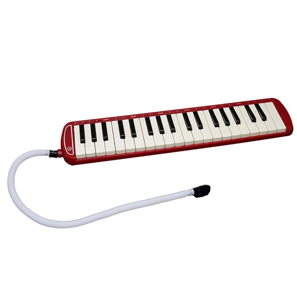 Melodica Musical Instrument Kids 37 Keys Portable Pianica Melodicas With Carrying Bag Musical Instrument Gift Toys For Music Lovers Beginners Mouthpieces Tube Sets Black Blue Pink For Music Lovers Beg by Kindlov-mus (Image #2)