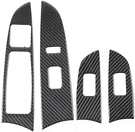 4pcs Carbon Fiber Window Lift Control Frame Panel DHFBS Interior Dash Covers For lexus IS250 300 350C 2006-2012