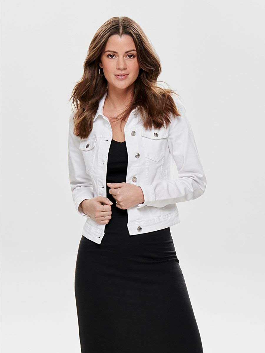 ONLY NOS Onltia DNM Jacket BB col Bex168a Noos Giacca in Jeans Bianco White 42 Taglia Produttore: 36.0 Donna