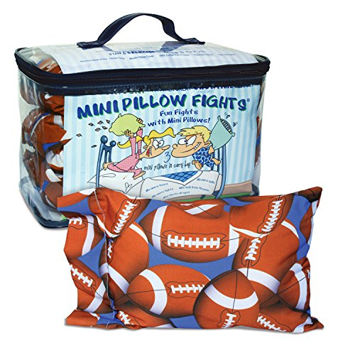 Mini Pillow Fights - Football - Set of 3 Mini Pillows in Carry Bag