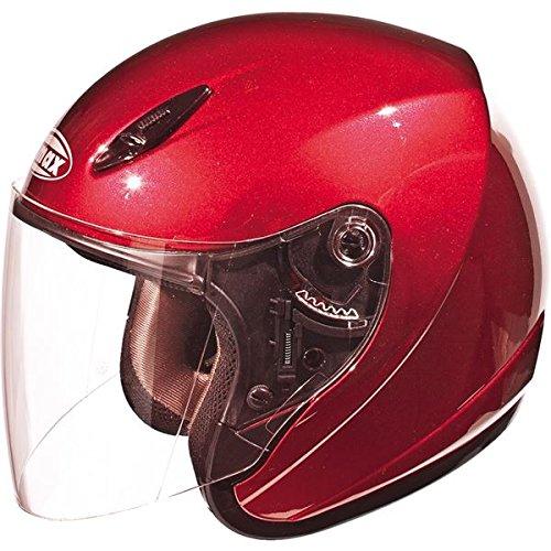 ge Red (Red Gm17 Open Face Helmet)
