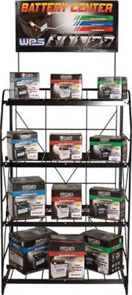 WPS Battery Rack Display and Sign BATTERY RACK