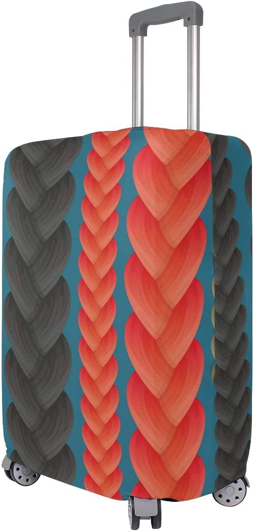 LEISISI Colorful Braids Luggage Cover Elastic Protector Fits XL 29-32 in Suitcase