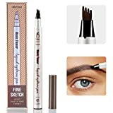 #2: Eyebrow Tattoo Pen - iMethod Microblading Eyebrow Pencil with a Micro-Fork Tip Applicator Creates Natural Looking Brows Effortlessly and Stays on All Day (Chestnut)