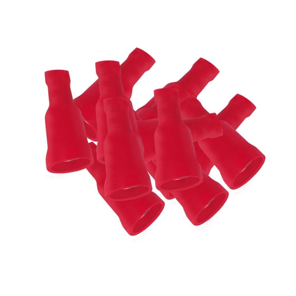 Kabelschuhe blau 6,3x0,8 Flachsteckhülsen 50 vollisol