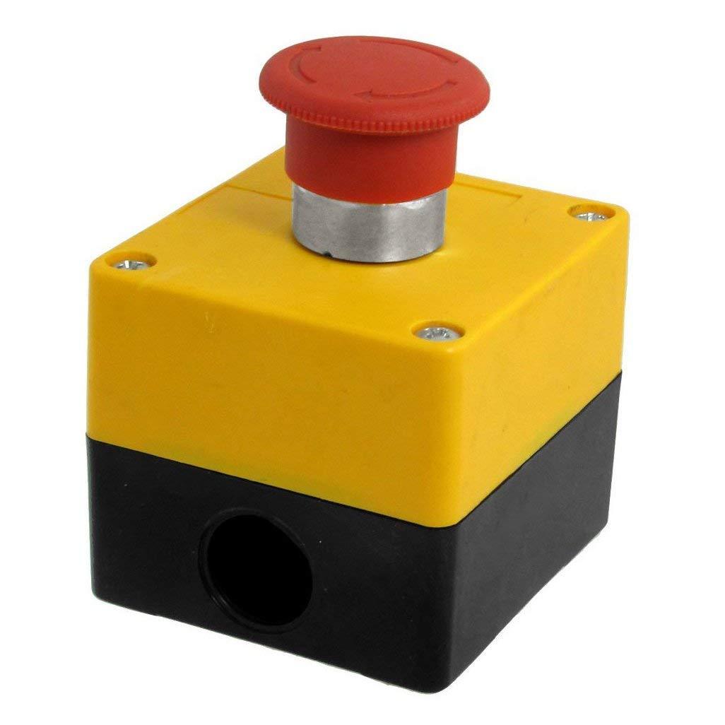WEIJ AC 660V 10A Latching NC Emergency Stop Red Mushroom Push Button Switch Station WEIJ Ltd