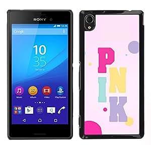 // PHONE CASE GIFT // Duro Estuche protector PC Cáscara Plástico Carcasa Funda Hard Protective Case for Sony Xperia M4 Aqua / Color Text Artist Music Bubbles /