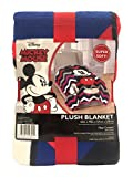 Disney Mickey Mouse Chevron Blue/Pink/White Plush