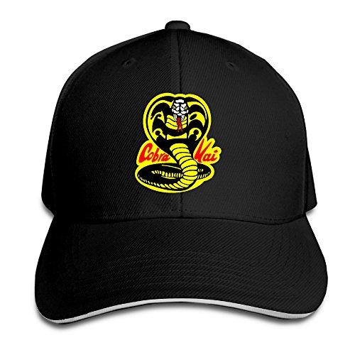 Visor Cobra Kai Page Snapback Hats Black Sandwich Peaked Cap (Cobra Visors)