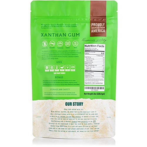 Made in USA Xanthan Gum (8 oz), Premium Quality, Food Grade Thickener, Non GMO, Gluten Free, Use in Cooking, Baking, Sauces, Soups and more. Suitable for Vegetarian, Kosher & Halal. Use for Keto Diet 4