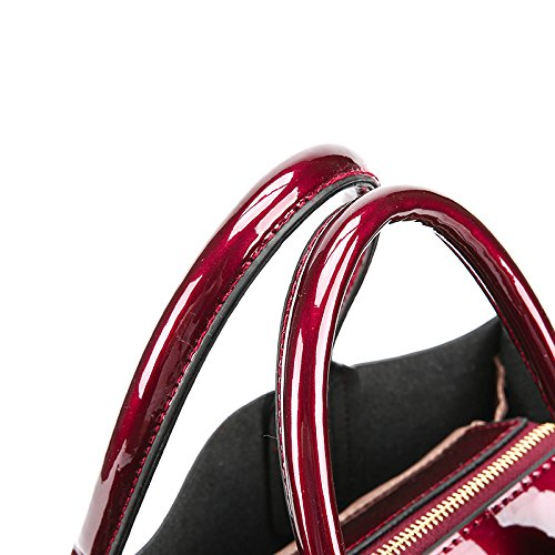 Red Casual Tote Sacs à 30cmXLongueur solide a main Mesdames Bag sac Les en lumineux main sacs cuir Black femmes maxX50cm Messenger épaule Sacs Simple fU78qg
