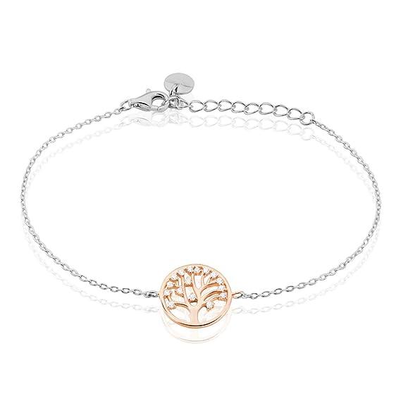 nuovo stile f9827 51618 Stroili - Bracciale Albero della vita in argento rosato e ...