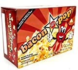 J&D's BaconPOP, Bacon Flavor Microwave Popcorn, 9 oz Box in a Gift Box