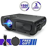 Portable Multimedia Projector 1500 Lumens Mini LED Video Projector Support 1080P HD Phone - Best Reviews Guide