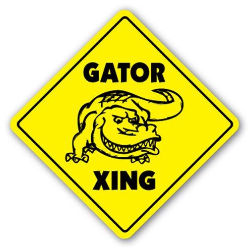 [SignJoker] GATOR CROSSING Sign new alligator gators xing gift Wall Plaque Decoration]()