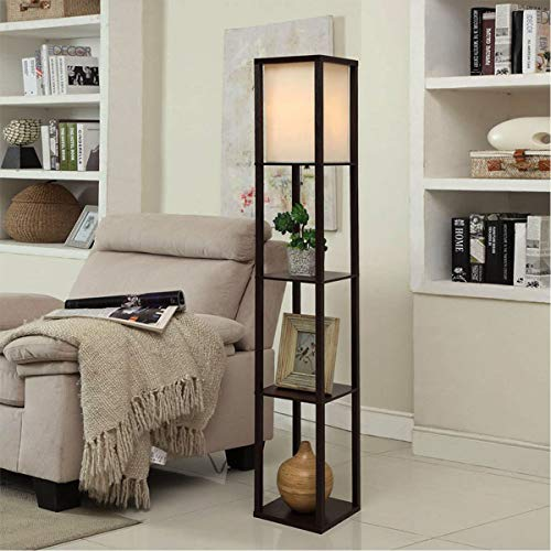 Oneach arterton modern shelf floor lamp with open box - Open shelving living room ...