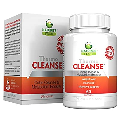 Nature's Fruit ThermoCleanse (30 Servings, 60 Capsules) - #1 Best Thermogenic Colon Cleanse for Weight Loss and Detox! The Only 3 in 1, All Natural Formula that Jump Starts Any Diet!