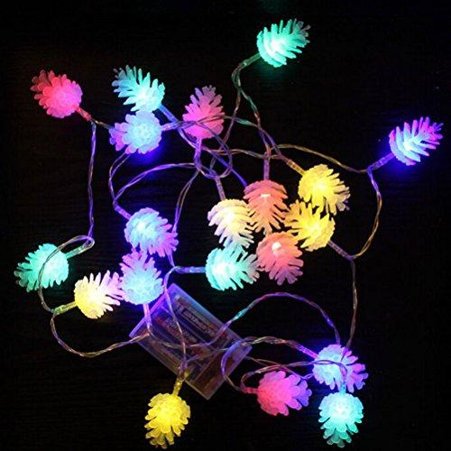 Led Pine Cone Christmas Lights - 9