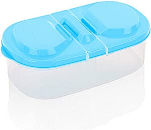 Food Storage Box, Maserfaliw Fresh Food Cereal Bean Snacks Sauce Storage Box Kitchen Container Plastic Case - Blue, Recyclable, Suitable For Holiday Gifts In The Outing and Indoors.