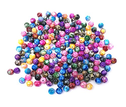 - Honbay 200pcs 8mm Multicolor Acrylic Round Ball Loose Beads