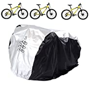 Aiskaer Waterproof Bicycle Cover Outdoor Rain Protector for 3 Bikes-dustproof and Sunscreen.Large Size for Mountain Bike Cover, Electric Bike Cover with Windproof Buckle Strap