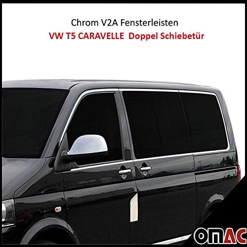 Chrom Grill Leiste Leisten Stoßstange Edelstahl für VW T5 Transporter 2003 2009