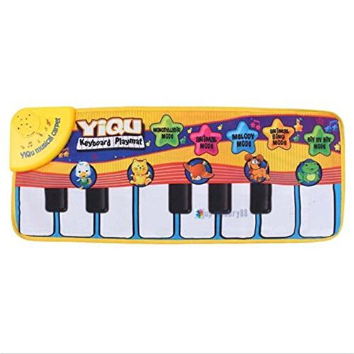 Honesty Music Kid Piano Play Baby Music Carpet Mat Animal sing Educational Soft Kick Toy