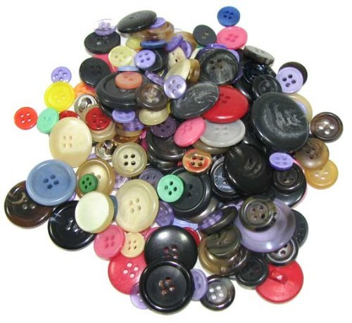 Bag Of  100  Very Assorted Buttons  Assorted Colors  Sizes Range From 3 8  To 1 1 2