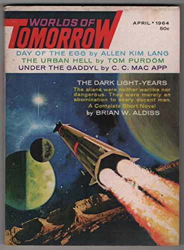 Vintage Issue of the Worlds of Tomorrow for April 1964 Aldiss , Lafferty ,Pohl