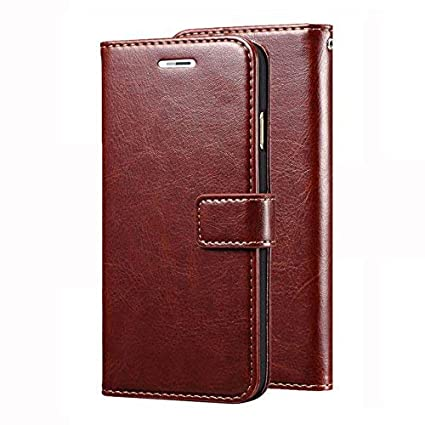 super popular 81bef bf457 Leather Wallet Flip Book Cover Case for Lenovo Vibe K4 Note - Brown