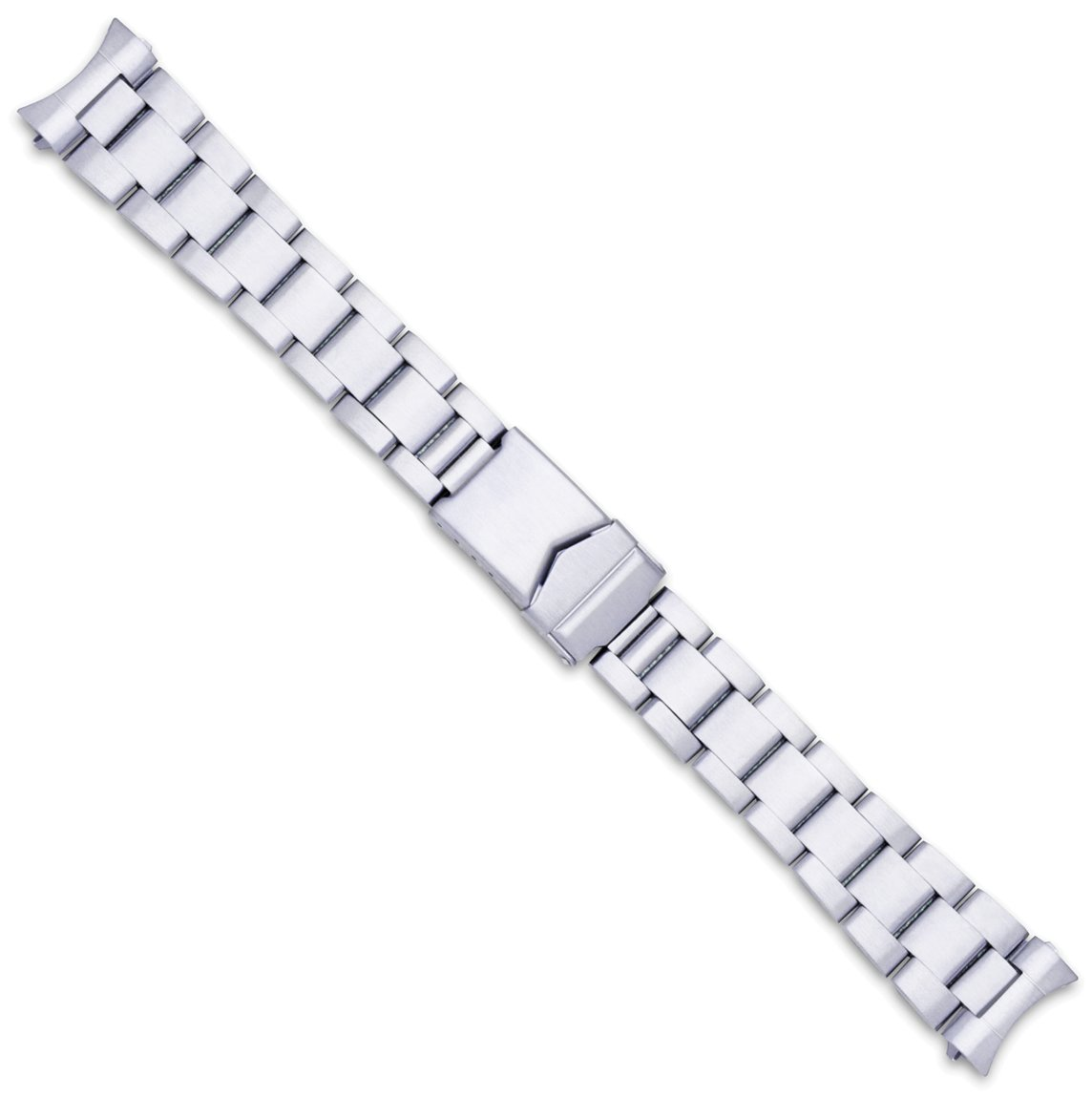 deBeer LM111 20mm Oyster Style Solid Link Metal Siver Watch Band