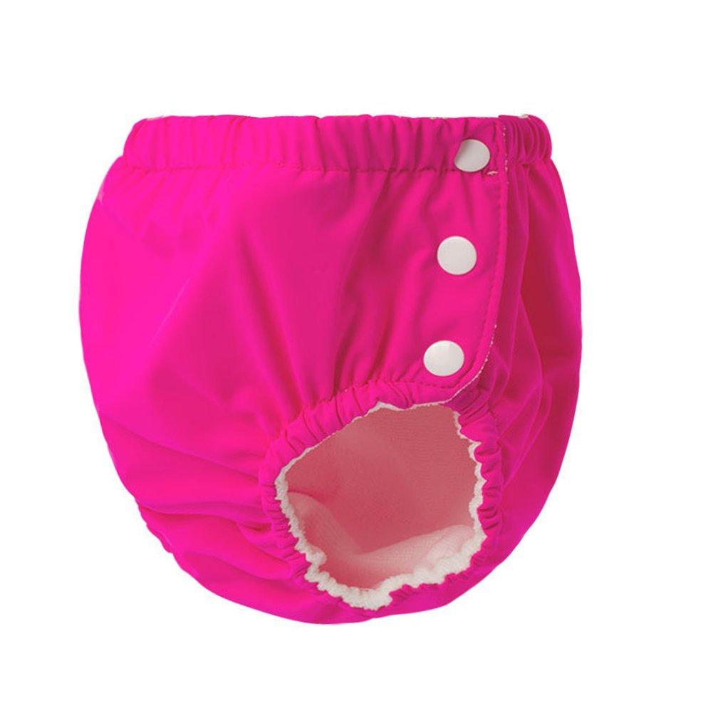 Toddler Boys Girls Side Snap Swimsuit Diaper Cover Enfants Ch/éris Baby Reusable Swim Diaper