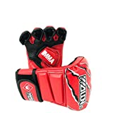 Wolon Boxing Gloves MMA UFC Sparring Grappling Fight Punch Mitts PU Leather Training Gloves