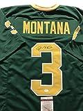 Autographed/Signed Joe Montana Notre Dame Fighting Irish Green Football Jersey JSA COA