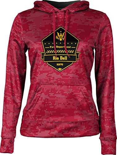 Price comparison product image Girls' Rio Dell Fire Protection District Fire Department Digital Pullover Hoodie