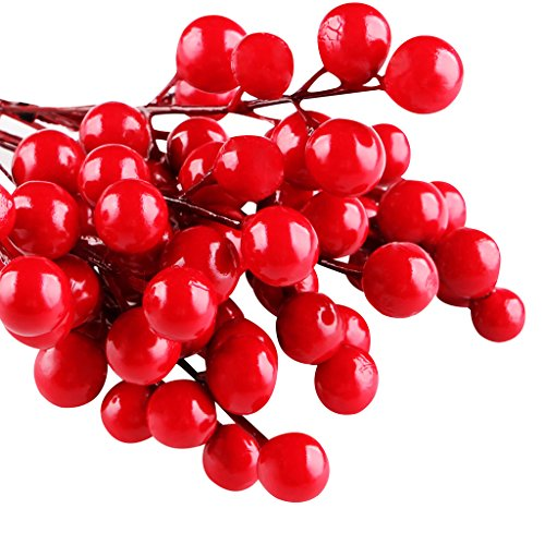 IFOYO-Red-Berries-10-Artificial-Red-Berry-Stems-for-Christmas-Tree-Decorations-Crafts-Holiday-and-Home-Decor-728-Inches