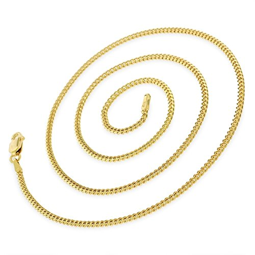 10k Yellow Gold 1.5mm Solid Miami Cuban Curb Link Thick Necklace Chain 16'' - 30'' (18) by In Style Designz (Image #1)