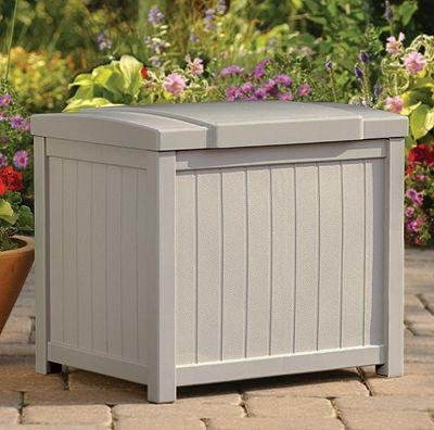Suncast Box Pool Deck (Suncast Premium, Durable Resin Small Deck Storage Box)
