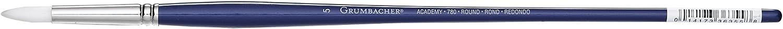 780R.10 Size 10 Grumbacher Academy Oil and Acrylic Round Brush White Nylon Bristles