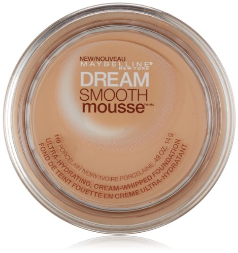Maybelline New York Dream Smooth Mousse Foundation, Porcelain Ivory, 0.49 Ounce (Matte Dream Foundation Mousse)