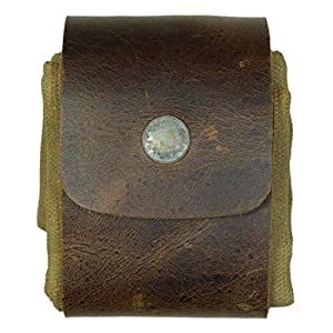 Hide & Drink, Waxed Canvas Foraging Pouch (Collapsible) for Hiking, Treasures & Seashells, Easy Looping Around Belts, Hands-Free Access, Genuine Leather, Handmade Includes 101 Year Warranty :: Fatigue