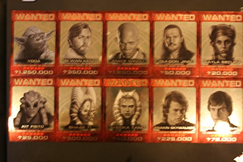 2015 Star Wars Chrome Perspectives Jedi vs. Sith Trading Cards 10-card Jedi Hunt Insert Set