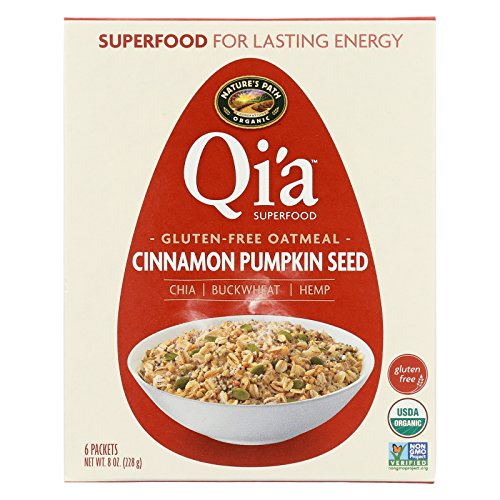 (Nature's Path Organic Qi'A Superfood Hot Oatmeal - Cinnamon Pumpkin Seed - Case of 6 - 8 oz.)