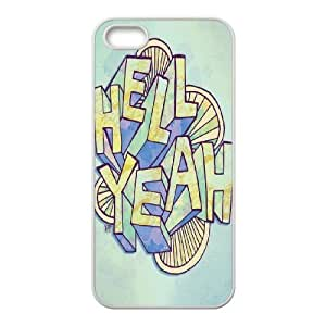 HELL YEAH Design Discount Personalized Hard Case Cover for iPhone 5,5S, HELL YEAH iPhone 5,5S Cover
