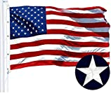 G128 American Flag 10x15 ft USA US Flag Embroidered Stars Sewn Stripes Brass Grommets Durable Indoor Outdoor Use