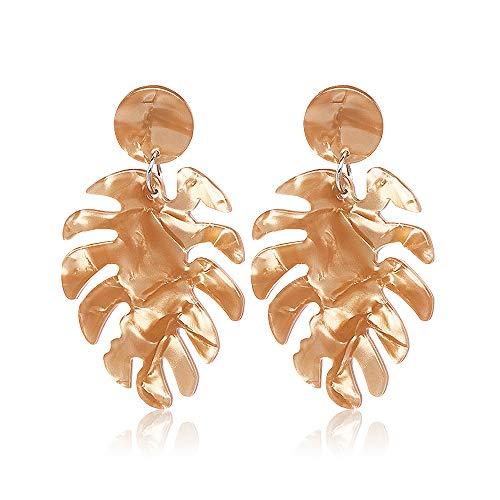 (Acrylic Earrings for Women Drop Dangle Leaf Earrings Resin Minimalist Bohemian Statement Jewelry (acrylic earrings classical Light)
