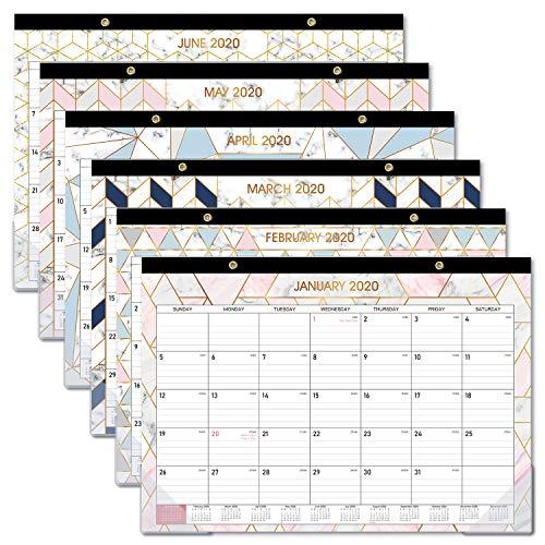 2020-2021 Desk Calendar - 18 Months Desk Wall Calendar ...
